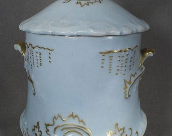 Victorian Condensed Milk Container with Lovely Blue Glaze - Germany or France