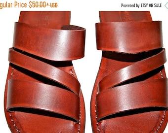 15% OFF Brown Flip Leather Sandals For Men & Women - Handmade Unisex Sandals, Flip Flop Sandals, Jesus Sandals, Genuine Leather Sandals