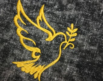 Gold Holy Spirit Embroidered Tablecover Centerpiece