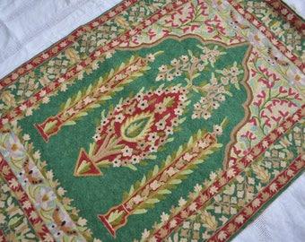 Vintage Indian Textile Wall Hanging/Banjara Method Embroidered Tapestry/Dorm Room Wall Art Decor