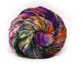 """Glam Rock Sparkle Sock Yarn - """"BamBOOzled"""" -  Handpainted Superwash Merino - 438 Yards"""