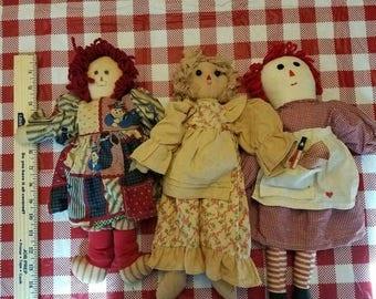 super sale primitive rag dolls lots