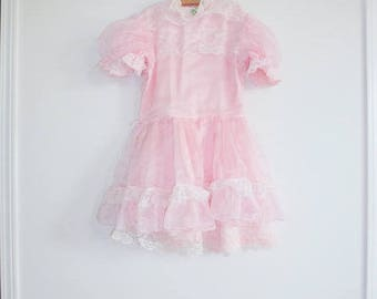 SALE // Vintage Ruffles and Lace Girl's Dress