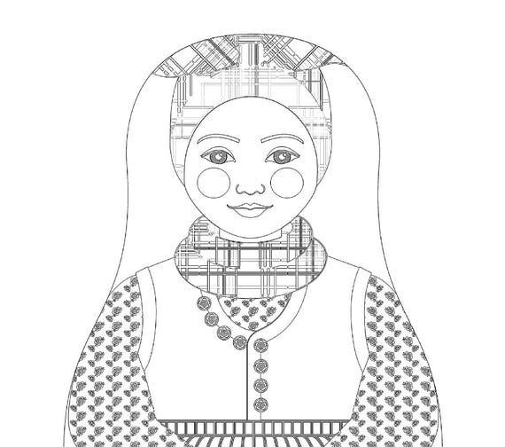 Rømø Danish Doll Traditional Folk Dress Coloring Sheet Printable