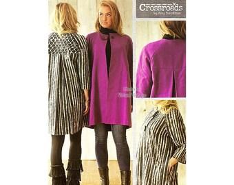 Swing Coat Pattern, Crossroads Sophia, Unlined Raglan Sleeve Jacket, Size XS to 3XL