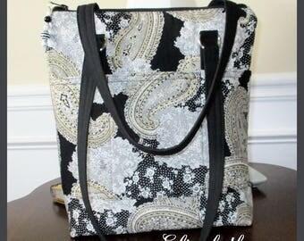 Handbag, My Original, Black, Greys, Pockets, Zipper Closure, Shoulder Straps