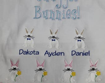 Grandma easter shirt etsy bunnies bunny rabbit easter family shirt grandparents embroidered sweatshirt or t shirt personalized negle Image collections