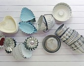 39 vintage tin molds - altered art - NO125