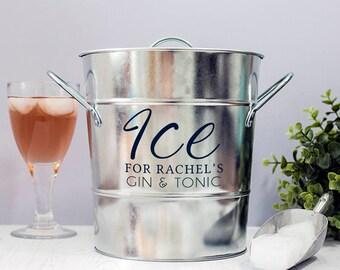 Personalised Zinc Ice Bucket