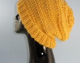 40% OFF SALE Digital File pdf download knitting patten only- Superfast Garter Stitch Stripe Slouch Hat pdf knitting pattern