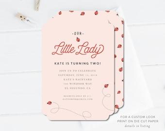 Ladybug Birthday Invitation | Ladybug Printable, Digital Download, Editable, DIY, Birthday Invitation Template, Baby Girl Birthday
