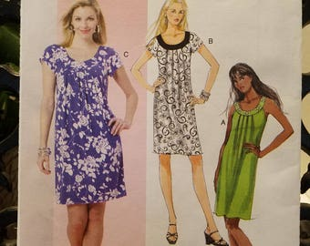 Butterick Pattern 5488 dress  Fashion Express Size Xsm-Sml-Med new uncut 2010
