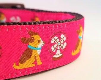 Your Biggest Fan - Dog Collar / Adjustable / Dogs / Beagle / Martingale / Pink / Large Dog Collar / Chill / Cool Dog / Hot Dog / Dog Collars