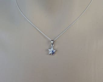Evil eye star necklace – 925 sterling silver – - cubic zirconia - Greek jewelry – gift for her