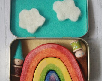 Waldorf To Go playsets- Rainbows and Gnomes