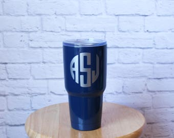 Personalized Stainless Steel Tumbler - 30 Ounce Stainless Tumbler - Navy Blue Stainless Steel Tumbler - by pocketbrand