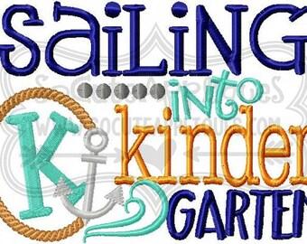 SAMPLE SALE Kindergarten Nautical, Back To School Shirt  - Read Description for Details