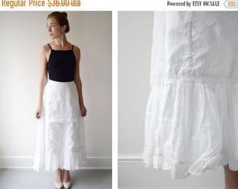 Summer Sale - 1910 White Ruffle Petticoat - XS