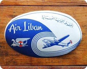Vintage Air Liban Air Lines Travel Decal Gummed Sticker