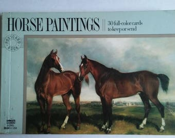 Vintage Horse Paintings Postcard Book First Edition: February 1989