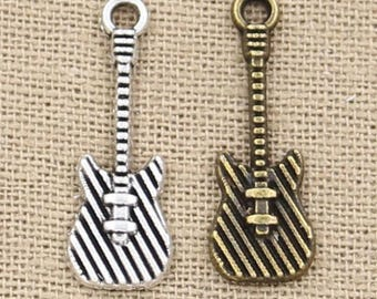 20 pcs Electric Guitar Charms