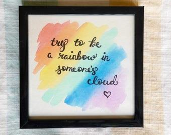 Rainbow Watercolor Quote