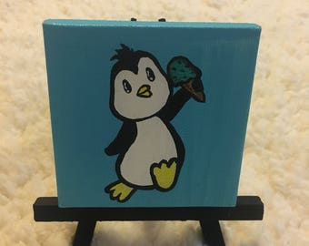 Penguin with icecream