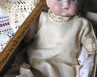 Baby Doll On Sale My Dream Baby Armand Marseille AM Germany 341./3 Blue Eyes Painted Head As Is Comp Hands Cloth Body Ecru Gown See Details
