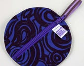 Notions Pouch - Purple Swirles