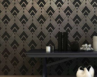 Lexington Allover Stencil - DIY Home Improvement - Better than Wallpaper