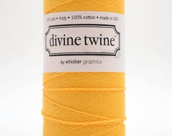 25% Off Summer Sale Full Spool - 240 Yards - Solid Yellow - Sunbright - Baker's Twine