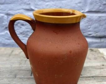 Lovely rustic vintage stoneware jug