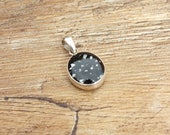 Small Ashes Necklace, Sterling Silver Memorial Necklace, Small Keepsake Pendant, Cremation Ash Resin Jewellery, Pet Loss Pendant,