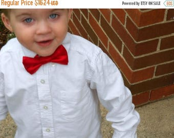 SALE Red Satin Bowtie - Infant, Toddler, Boy-  2 weeks before shipping