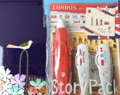 London Tapes - Deco Rush Story Pack - 6mm Tape - Dispenser Pen with tape and 2 Refills