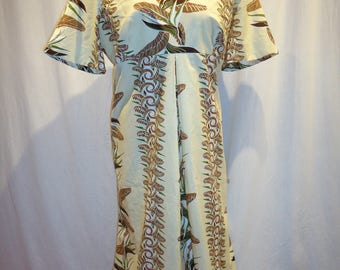 Shaheen Print Hawaiian Dress Bust 51 inches Plus Size 20/22
