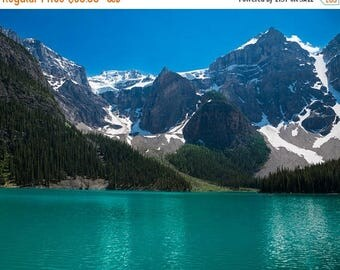 SUMMER SALE-Ends July 5- Lake Louise Photo, Banff Photography Reflections Mountains Landscape Canada Jasper Alberta Rockies Blue nat111