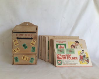 Vintage Stamp Saver Box and  S&H Green Stamp - Top Value Stamp Books