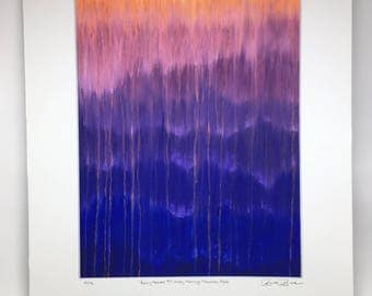 New item! Purple Mountains Misty Morning Rain Fine Art Rainy Moments by Rachel Brask