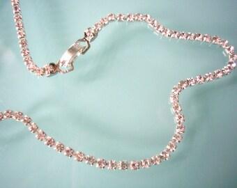 Single Strand Rhinestone Bracelet, Diamante Bracelet, Great Gatsby, Sparkly Bracelet, Minimalist, Party, Prom, Choice of Colors & Sizes