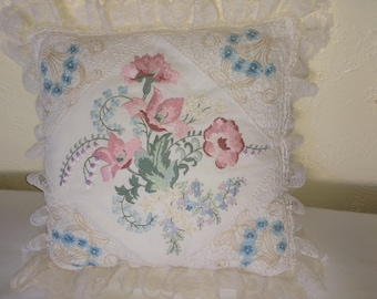 Hand Embroidered Pillow