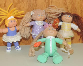 1980s Cabbage Patch Kids 3 inch Plastic dolls