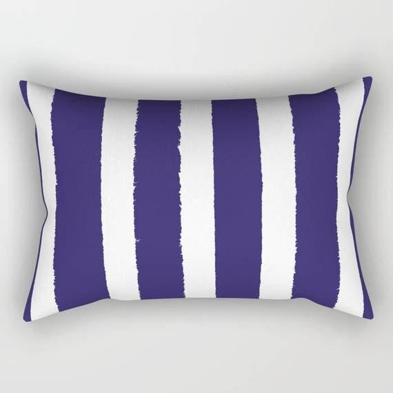 Indigo Lumbar Pillow . Indigo lumbar pillow . Indigo Toddler Pillow . Striped Pillow . Indigo Pillow . Modern Cushion  Travel Pillow 14 x 20