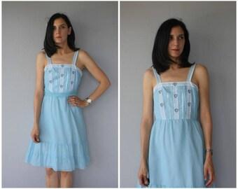 Vintage 1970s Dress | 70s Dress | Lorrie Deb Dress | 70s Sun Dress | 1970s Bohemian Dress | 70s Boho Dress - (small)