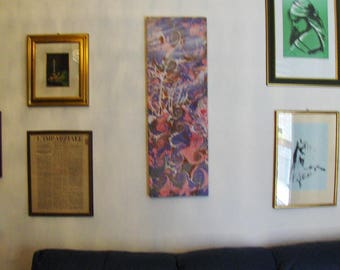 "marbled canvas, ready to hang,  tela màrmolada, tela  marmorizzata - 0,8 x 1,16"" x  39,8""  inches -  cm 1,6 x  30 x cm 100  -    961"