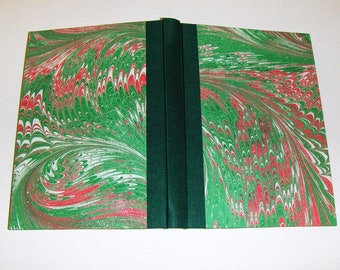 Marbled paper and leather  addressbook, 48  sheeti,  Hand bounded  cm 10 x 15 cm  -  1018