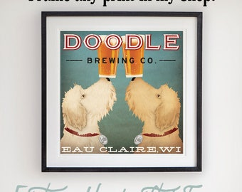 DOODLE Framed Print Any Square PRINT in my collection in a 24x24x1 handmade wood frame SIGNED