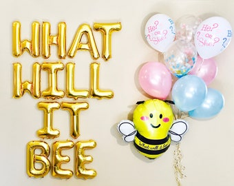 What Will It Bee Balloons Baby Reveal Gender Party Shower
