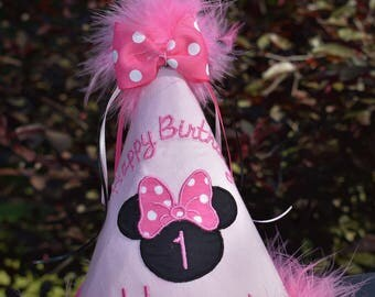 Custom Minnie Mouse Boutique Birthday Hat