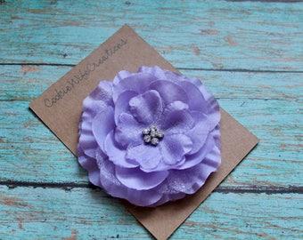 Lavender Multi-Layered Flower Hair Clip